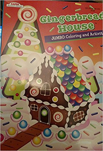 Gingerbread House Jumbo Coloring & Activity Book