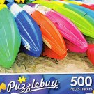 Colorful Beach Kayaks - 500 Piece Jigsaw Puzzle Puzzlebug