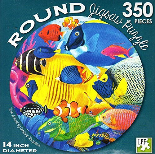 Fish School - 350 Piece Round Jigsaw Puzzle