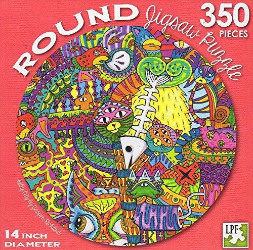 Kitty City - 350 Piece Round Jigsaw Puzzle