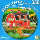 Bud's Big Blossoms - 350 Piece Round Jigsaw Puzzle