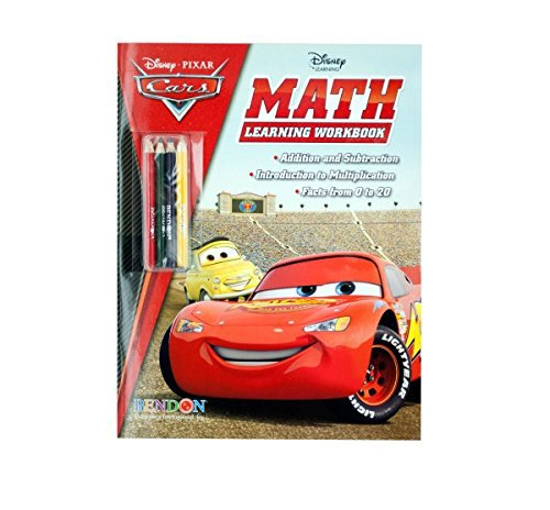 Disney Cars Math Learning Book with Pencils ~ Coloring & Activity Book