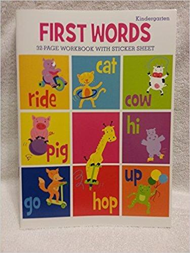 First Words-32 page workbook w/sticker sheet-Kindergarten