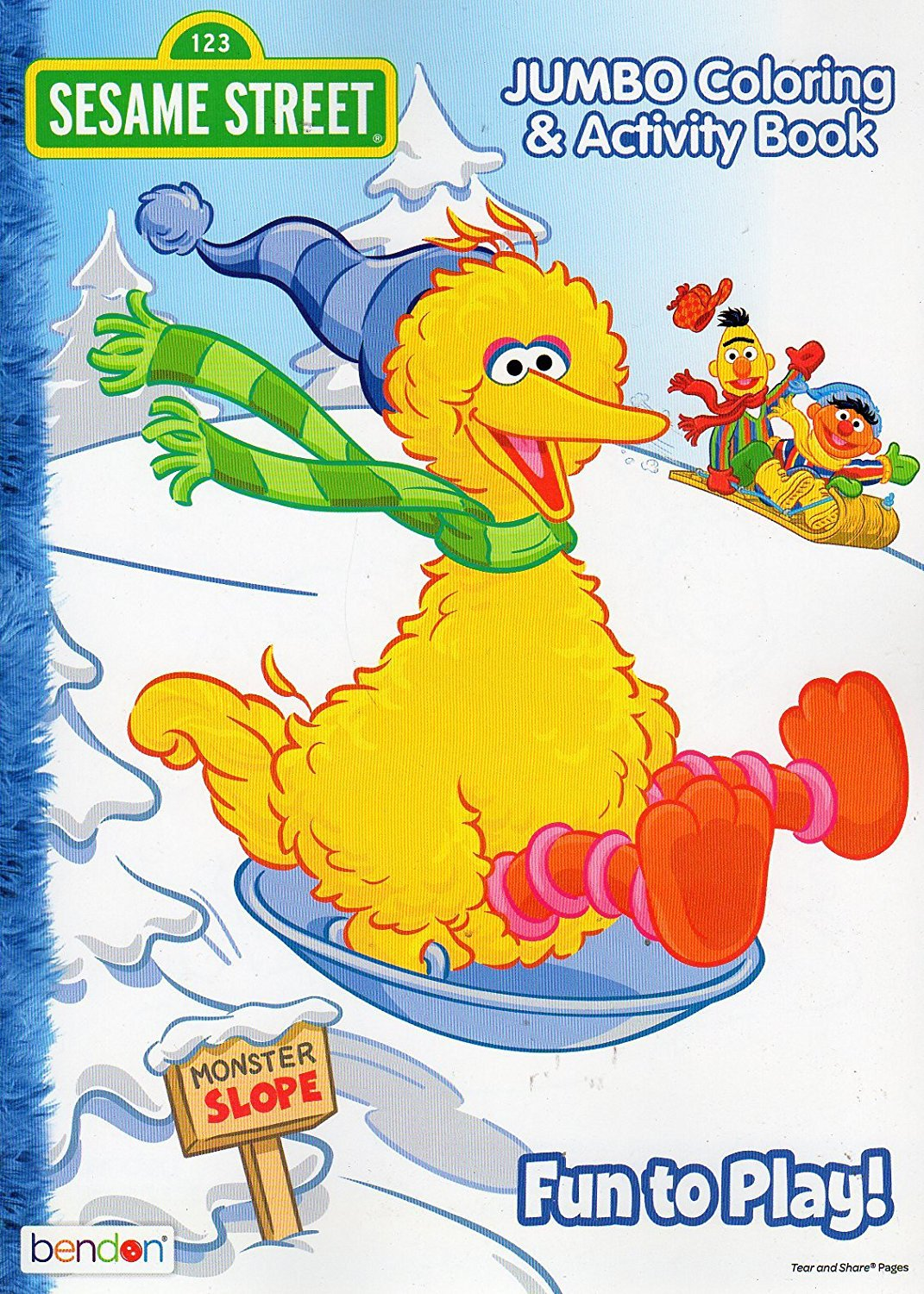 Christmas Holiday - Sesame Street - Fun to Play! - JUMBO Coloring & activity Book for Kids