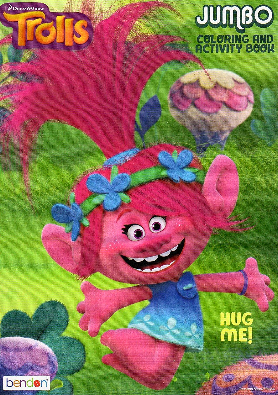 Dreamworks Trolls Hug Me Jumbo Coloring and Activity Book