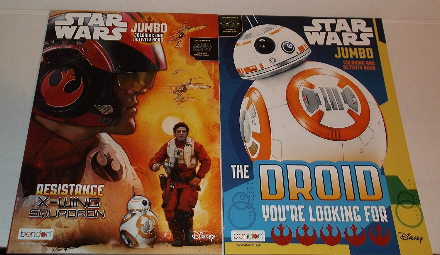 Star Wars Coloring and Activity Book - The Droid You're Looking For & Resistance X-Wing Squadron