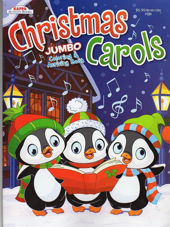 Christmas Carols Jumbo Coloring & Activity Book