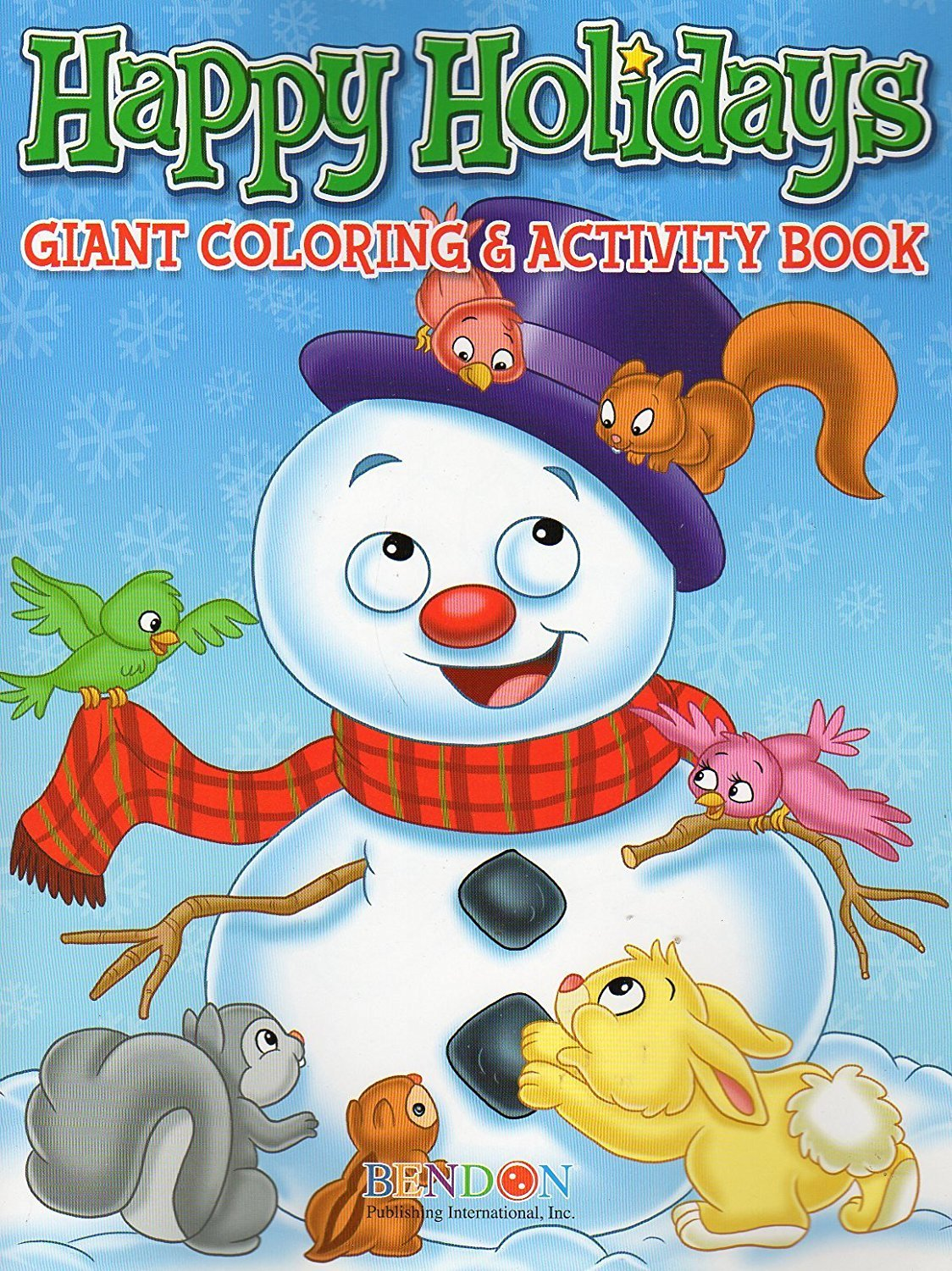 Happy Holidays Giant Coloring & Activity Book -v2