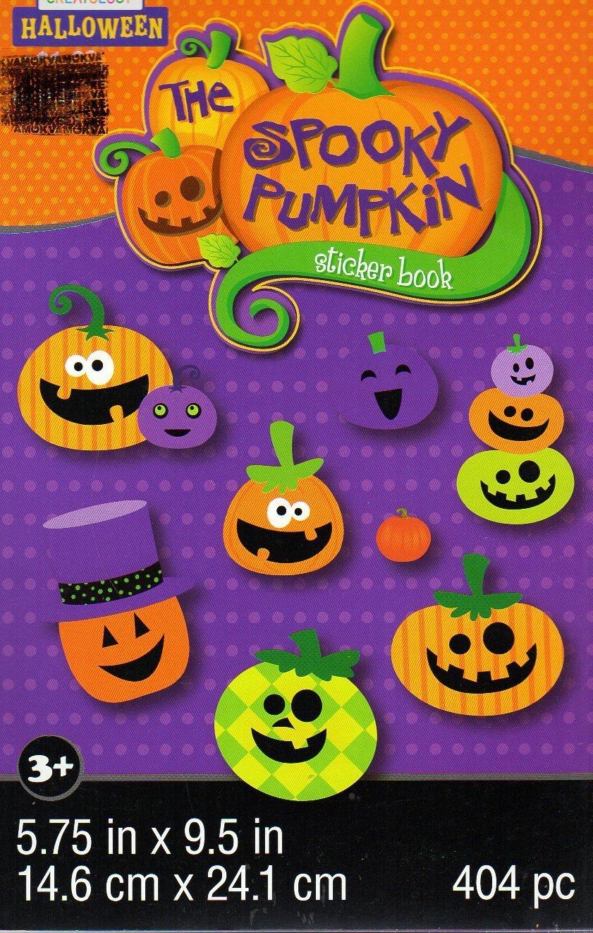The Spooky Pumpkin - Stickers Book - 404 Stickers - Halloween Themed