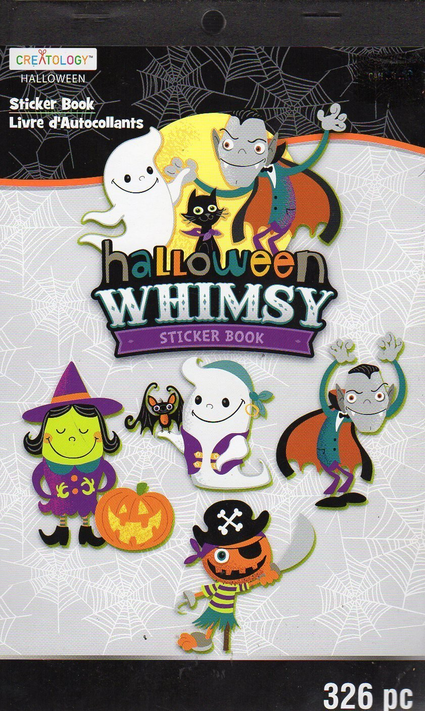 Hallowen Whimsy Stickers Book - 326 Stickers - Halloween Themed