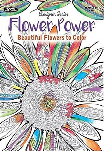 Adult Coloring - Designer Series - Flower Power Coloring Book