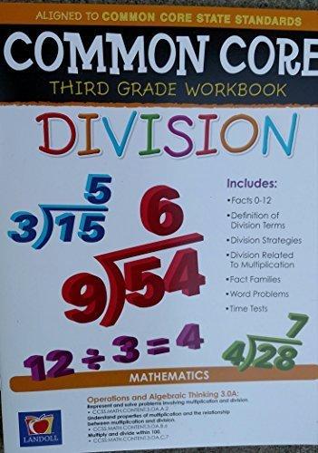 Common Core Division Third Grade Workbook