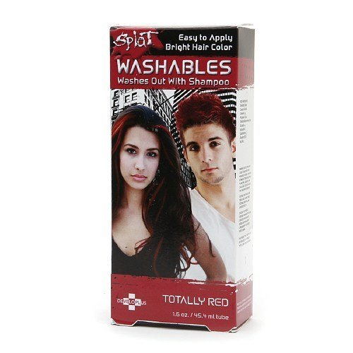 Splat Washables Bright Hair Color, Totally Red 1.6 oz