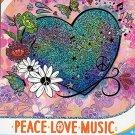 Savvi Peace Love Music - Temporary Tattoos - 38 Tattoos By Savvi