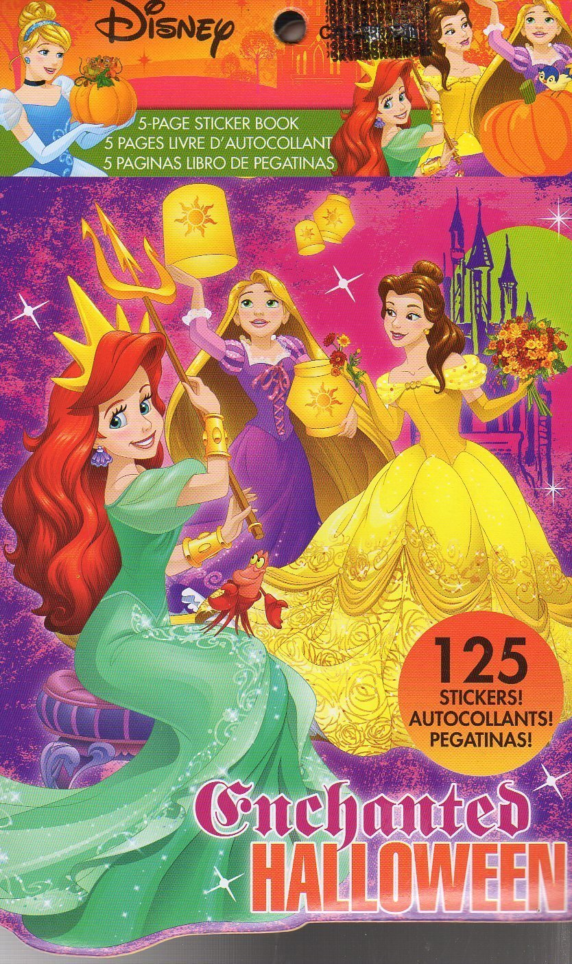 Disney Princess Stickers Book - 125 Stickers - Halloween Themed