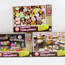 3 Cupcake Jigsaw Puzzles - 300 Pieces Each