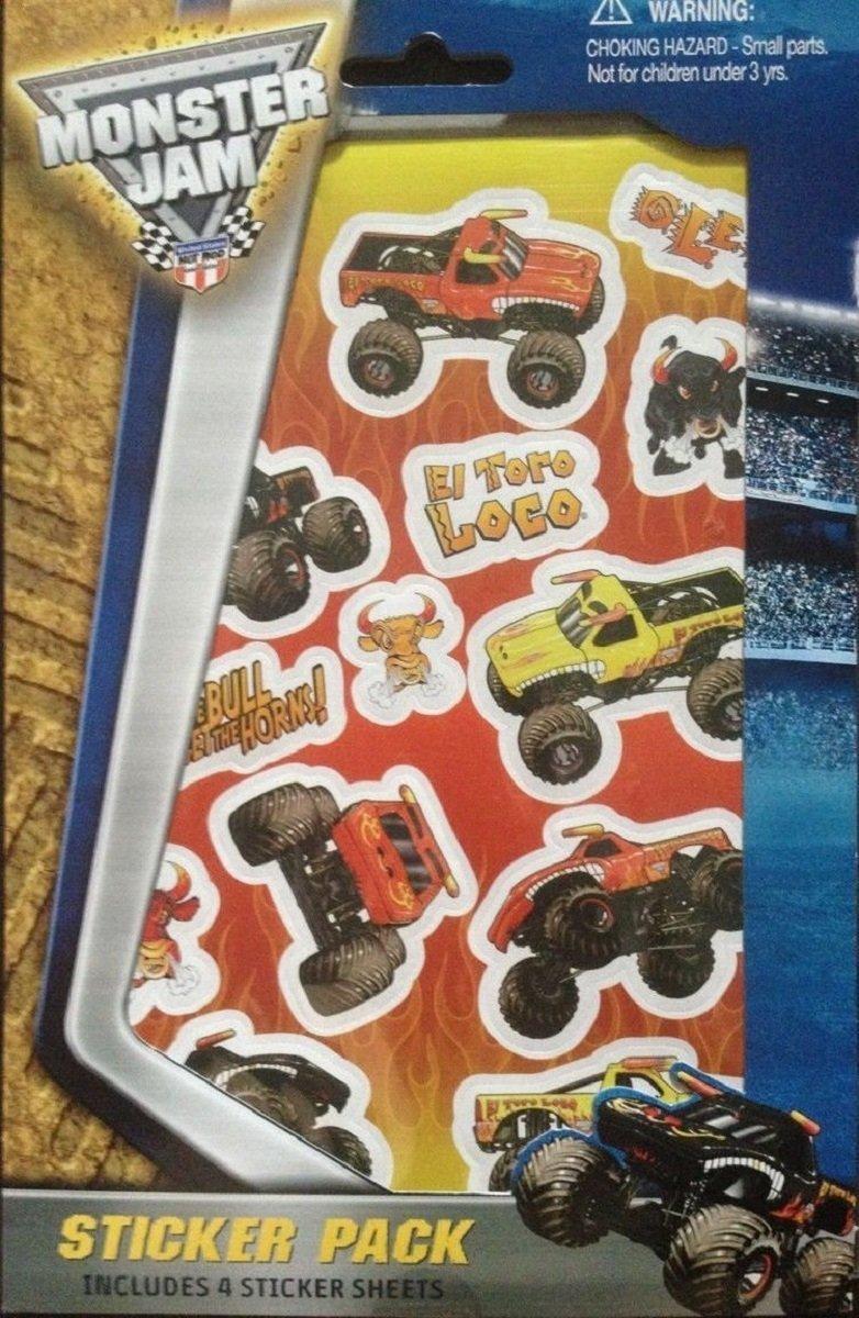 Monster Jam Sticker Pack Stickers