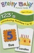 Brainy Baby 123s Picture Flash Cards (Numbers 1-10)