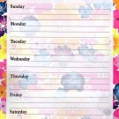 Magnetic Dry Erase Calendar - Weekly Planner - (Full sheet Magnetic) - v3