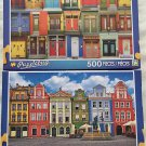 2 Puzzlebug 500 Piece Puzzles: Colorful Montreal Doors ~ Colorful Buildings, Ponzan, Poland