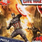 Captain America Civil War 100 Piece Puzzle - Avengers - (Cap Fighting Iron Man) - v1