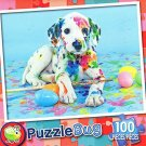 Painted Puppy - 100 Piece Jigsaw Puzzle Puzzlebug