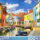 Colorful Houses, Burans, Venice Italy - 500 Piece Jigsaw Puzzle Puzzlebug