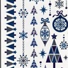 Nappy Christmas Metallic Temporary Tattoos - 1 sheet -v2