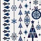 Nappy Christmas Metallic Temporary Tattoos - 1 sheet -v2