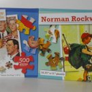 2 Norman Rockwell 500 Piece Puzzles -