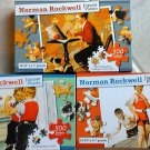 Lot of 3 - Norman Rockwell Jigsaw Puzzles - 500 pieces