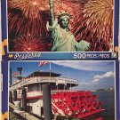 Puzzlebug 500 Piece Puzzles: Fireworks Behind the Statue of Liberty ~ New Orleans Paddle Steamboat