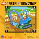 Construction Zone - Backhoe - 48 Piece Jigsaw Puzzle