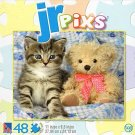 JR pixs Kit and Teddy - 48 Piece Jigsaw Puzzle