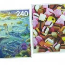 LPF 480 Piece 2-in-1 Puzzle ~ Ocean of Life & Licorice Candy (2 X 240pc Puzzles - Mixed in 1 Box)