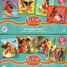Elena Of Avalor - 4 Puzzle Pack - 12 Piece Jigsaw Puzzle  (Bundle of 2 - 4 Puzzle Packs) - v2