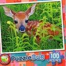 Newborn Whitetail Fawn - PuzzleBug - 100 Piece Jigsaw Puzzle