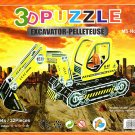 Excavator - Pelleteuse - 3D Puzzle - Assembly Model Puzzle Kit