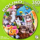 Playtime in the Garden by Vivienne Chanelle - 350 Piece Round Jigsaw Puzzle