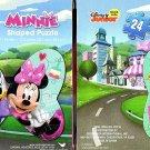 Disney Junior - Minnie - 24 Pieces Shaped Jigsaw Puzzle - (Set of 2 Puzzles)
