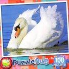 White Swan - PuzzleBug - 100 Piece Jigsaw Puzzle