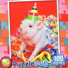 Party Pig - PuzzleBug - 100 Piece Jigsaw Puzzle