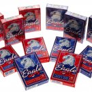 Eagle Poker Size Playing Cards _ Bundle of 12 Decks _ Average Quality Cards