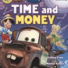 Disney & Pixar Film Characters Adventures in Learning Time & Money 32 Page Workbook