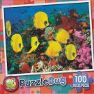 Butterfly Fish Over Coral Reef, Red Sea - PuzzleBug - 100 Piece Jigsaw Puzzle