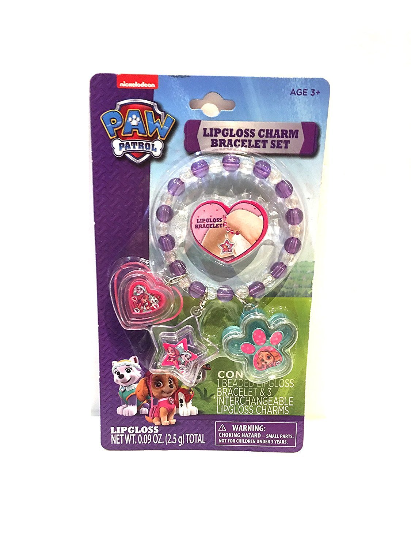 Paw Patrol Lipgloss Charm Bracelet Set