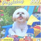 Puzzlebug 300 Piece Puzzle ~ Cute Shih Tzu Puppy Sitting on a Colorful Quilt ~ New Larger Pieces
