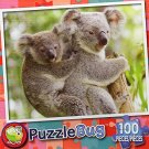 Koala Mother and Baby - PuzzleBug - 100 Piece Jigsaw Puzzle