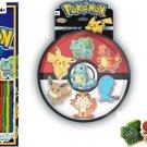 Pokemon Sticker Book 1000 pc and Pokemon Eraser 7 Pack