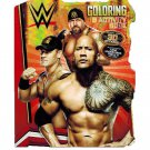 WWE 80 Page Shaped Coloring and Activity Book with Stickers.